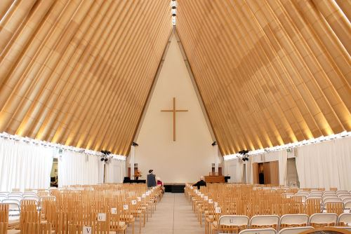 Cardboard Cathedral Inside