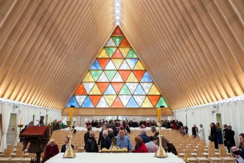 Cardboard Cathedral Stained glass